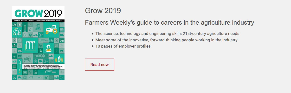 Grow 2019 – Farmers Weekly's guide to careers in the agriculture industry